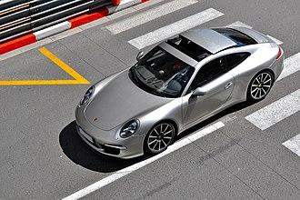 Sunroof - A sliding sunroof on a Porsche 911 Carrera (Type 991)