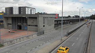 Portal Eldorado Transmilenio stop