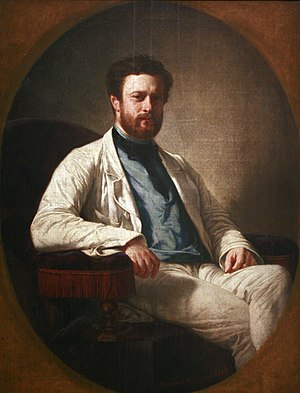 Edmond François Valentin About - About at the time of his first notoriety, by Félix-Henri Giacomotti, 1858 (Musée des Beaux-Arts de Strasbourg)