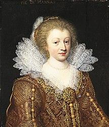 Jan van Ravesteyn: Portrait d'Amélie Élisabeth de Hanau-Münzenberg