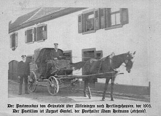Carlsberg, Germany - Post coach in Hertlingshausen 1903