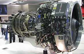 PowerJet SaM146 Engine exhibited in Paris Air Show 2011.jpg