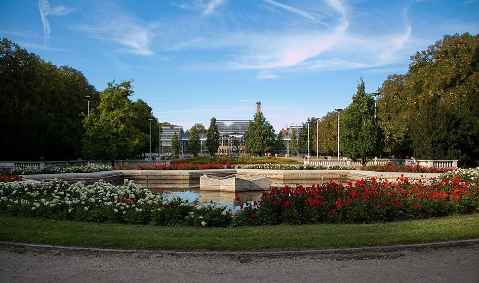 Poznan Park Wilsona latem
