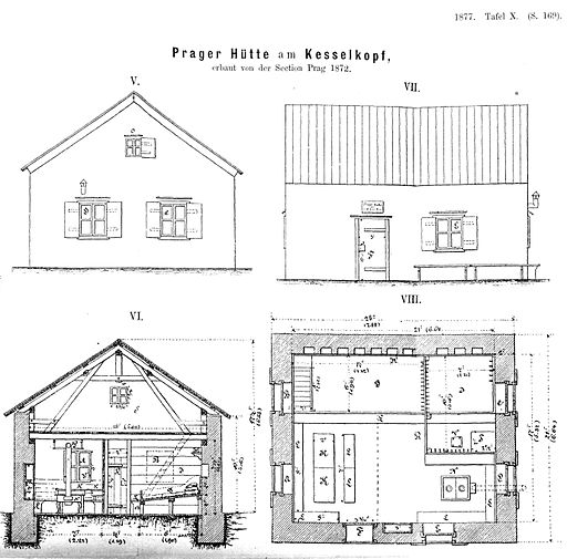 Prager Hütte 1877