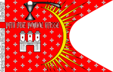 "Depiction of the ""Prague Banner"" (municipal flag dated to the 16th century) Prague banner c1477.png"