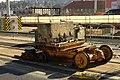 Praha, Vokovice, Červený Vrch, rekonstrukce TT, odvoz betonových bloků.jpg