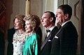 President Ronald Reagan, Nancy Reagan, Grand Duke Jean of Luxembourg, and Grand Duchess Josephine-Charlotte.jpg
