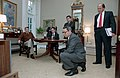 President Ronald Reagan During a National Security Council Nsc Briefing and Watching Television About Israel Moving Into Lebanon with Mb Oglesby Kenneth Duberstein Colin Powell Geor - DPLA - 8715e64ded26eff9ea7d05344484a390.jpg