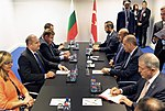President Rumen Radev heads the Bulgarian delegation to the Meeting of the Heads of State and Government of the NATO Member States in Brussels 2018 18.jpg