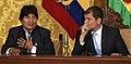 Presidentes Rafael Correa y Evo Morales ofrecen una rueda de prensa conjunta (5079411140).jpg