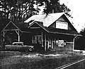 Prides Crossing station converted to ice cream parlor, 1962.jpg