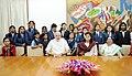 Prime Minister Narendra Modi with children from the Vasundhara Charitable Trust, Nagpur.jpg