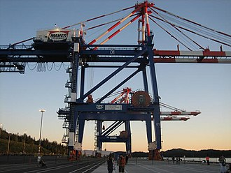 Prince Rupert Port Authority - Prince Rupert has cranes that can load or unload the  largest container ships.