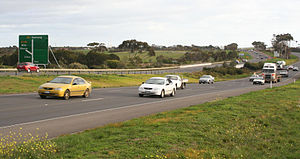 Lara, Victoria - Princes Freeway at Lara