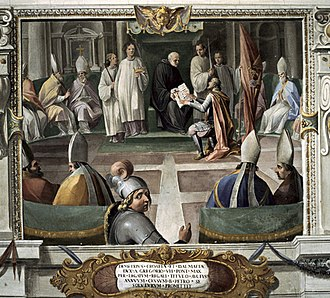 Demetrius Zvonimir of Croatia - The Oath of Zvonimir, Vatican fresco from 1611