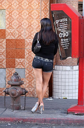 Prostitute in Tijuana, Mexico.