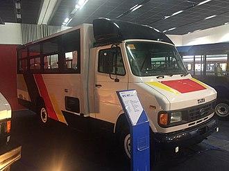 Public Utility Vehicle Modernization Program - A prototype of a modernized jeepney made by Tata Motors.