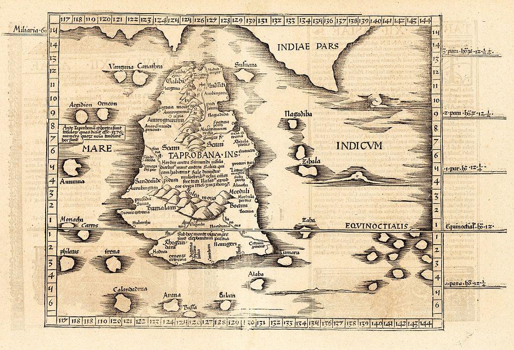 вот часть карты - реконструкции по описанию Птолемея, которая показывает
