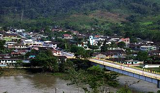 Zamora River - Zamora River in Zumbi Parish, Centinela del Cóndor Canton