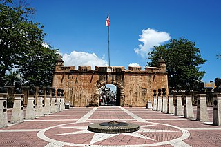 Main gate to Colonial City Santo Domingo