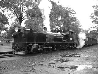 Narrow-gauge lines of the Victorian Railways - Restored Garratt G42 on the Puffing Billy Railway