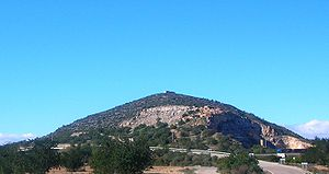 Ilercavonia - Puig de la Nau mountain in Benicarló district. There are the ruins of an ancient Iberian settlement on the eastern side.