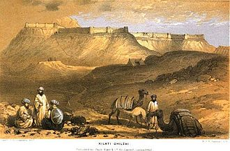 Qalati Ghilji - The fortress in Qalat City. The sketch was done by a captain in the British expedition.