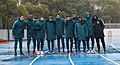 Qatar U23 team lined up at the training pitch.jpg
