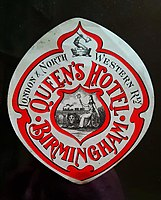 Queen's Hotel Birmingham - luggage tag.jpg