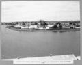 Queensland State Archives 3401 Kangaroo Point showing south approach in centre and central mixing plant at extreme right 29 April 1936.png