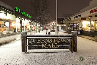 Queenstown, New Zealand - The Queenstown Mall in winter