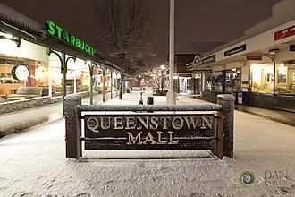 Queenstown, New Zealand - The Queenstown Mall in winter