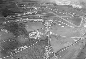RAF Tarrant Rushton - 1944 Oblique air photo of RAF Tarrant Rushton, looking Northeast to Southwest