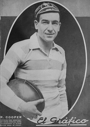 History of the Argentina national rugby union team - Reginald Cooper, former team captain in 1928