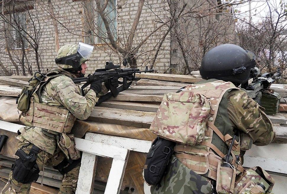 RIAN archive 835340 Antiterrorist operation in Makhachkala
