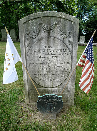 Lemuel H. Arnold - Grave of Lemuel Arnold at Swan Point Cemetery, Rhode Island