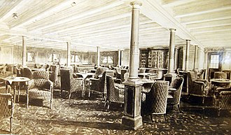 RMS Olympic - Second-class library of Olympic