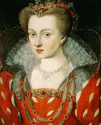 Louise of Lorraine - Portrait by Jean Rabel, ca. 1575.