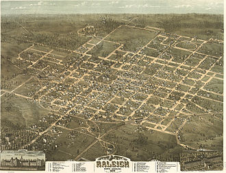 Raleigh, North Carolina - Raleigh, North Carolina in 1872