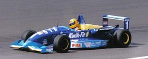 Ralph Firman - Firman driving for Paul Stewart Racing at Silverstone during the 1995 British Formula 3 Championship season.