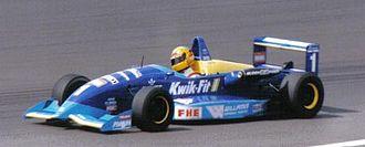 Ralph Firman - Firman driving for Paul Stewart Racing at Silverstone during the 1995 British Formula 3 Championship season.