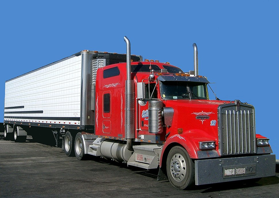 Red truck USA