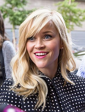 Reese Witherspoon won for her portrayal of June Carter Cash in Walk the Line (2005) Reese Witherspoon at TIFF 2014.jpg