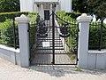 Reformed Church, iron gate in Gyömrő, Pest County, Hungary.jpg