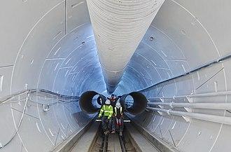 Boring Test Tunnel - Image: Reinventing Boring (44544295190)