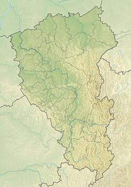 Kemorovo på kortet over Kemerovo ubladdusk.