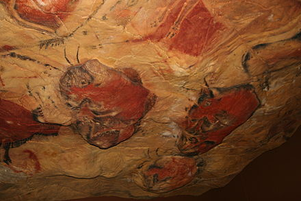 Reproduction of Altamira Cave paintings, in Cantabria Reproduction cave of Altamira 02.jpg