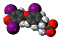 Reverse triiodothyronine zwitterion 3D spacefill.png
