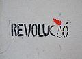 Revolució, graffiti a la plaça d'Hondures, València.JPG