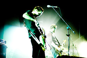 Post-rock - Post-rock group Sigur Rós performing at a 2005 concert in Reykjavík.
